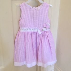 Rare editions pink gingham dress